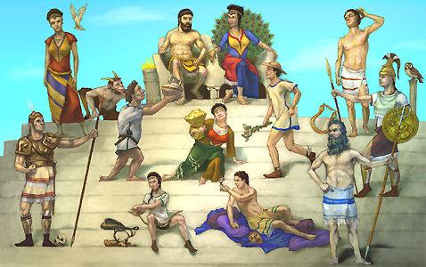 ZeusAres And Athena Together